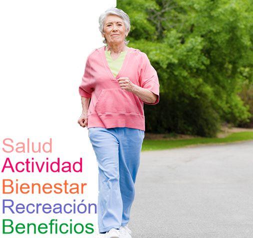 Beneficio caminatas en Adultos Mayores